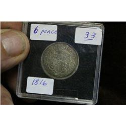 English Six Pence Coin (1)