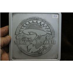 Canada Five Cent Coin & a Copper Medallion