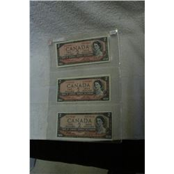 Canada Two Dollar Bills (3)