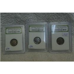 U.S.A. Buffalo Nickel (3)