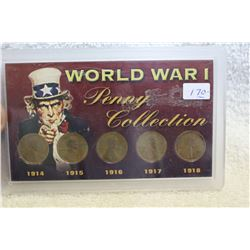 U.S.A. World War I Penny Collection