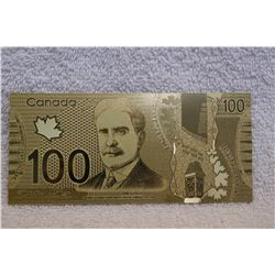 Canada - Gold Covered Imitation Hundred Dollar Bill