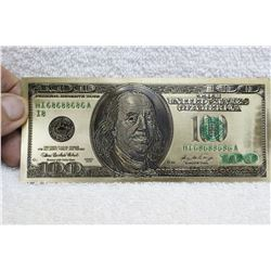 U.S.A. - Gold Covered Imitation Hundred Dollar Bill