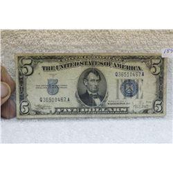 U.S.A. Five Dollar Silver Certificate (1)