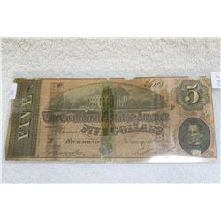 The Confederate States of America Five Dollar (1)