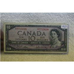 Canada Ten Dollar Bill (1)