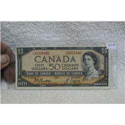 Canada Fifty Dollar Bill (1)