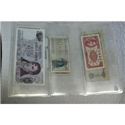 Three Sheets of Foreign Currency