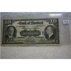 Bank of Montreal Ten Dollar Bill (1)