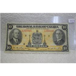 The Royal Bank of Canada Ten Dollar Bill (1)