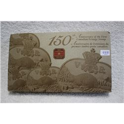 Canada 150th Year Commemorative Postage Stamp & 24kt. Gold Plated 3¢ Coin