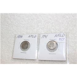 Nfld Five Cent Coins (2)