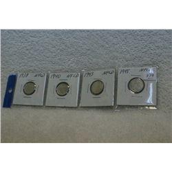 Nfld Ten Cent Coins (4)