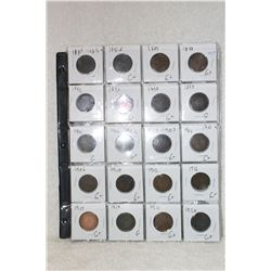 Canada Large One Cent Coins (20)