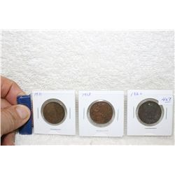 Canada Large Cents (3)
