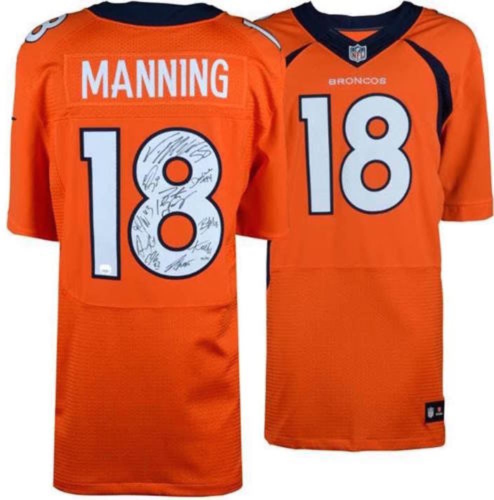 promo code 4d226 851af Payton Manning Broncos Nike Jersey Team-Signed By (11 ...