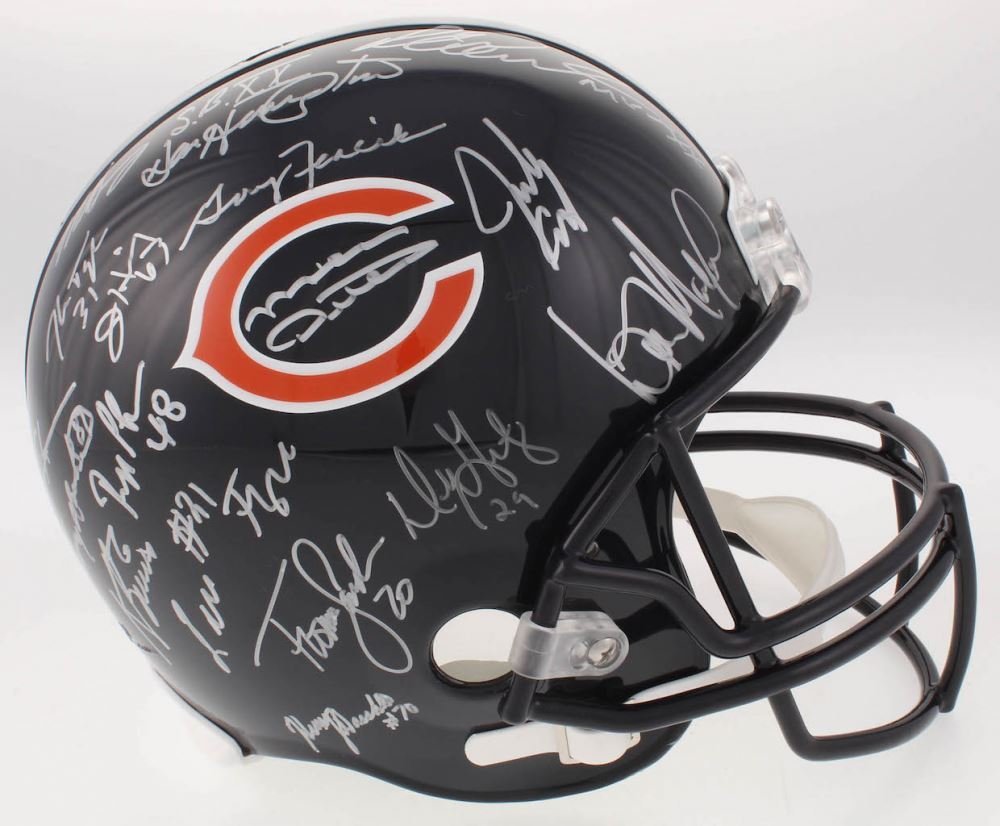 02fda3dc 1985 Chicago Bears Super Bowl XX Champions Full-Size Helmet ...