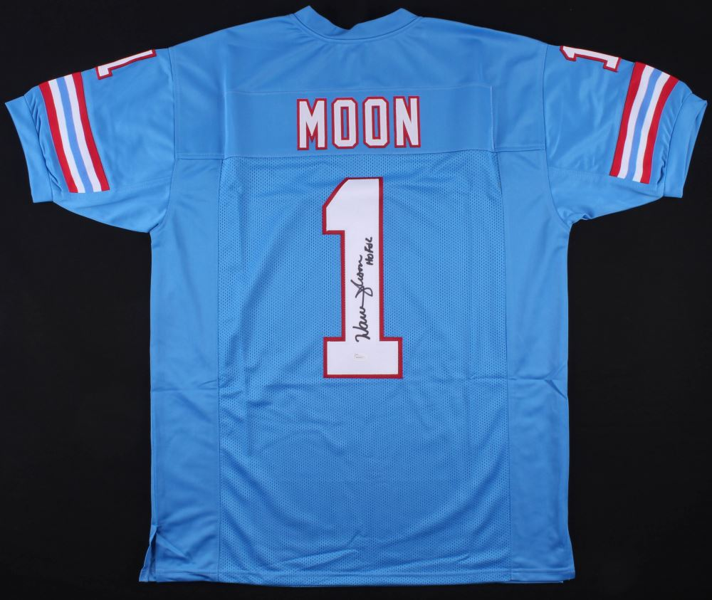 pretty nice 3fdef d58cd Warren Moon Signed Houston Oilers Jersey Inscribed
