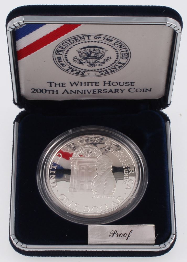 1992 White House 200th Anniversary Silver Proof Dollar