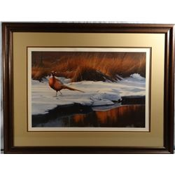 Daniel Smith, Rooster on snow, 838/1250, signed, Published in 1987 by PF, 25w x 17h