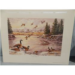 Dave Maloney, Wings on the Morning Light, 1034/4250, signed, Montana DU Special Edition, 17w x 13h