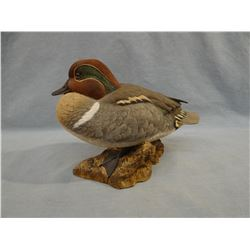 """Green winged teal, resin sculpture, 7"""" h, #98/450"""