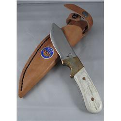 """Running Wolf, antler handle, 4"""" blade"""