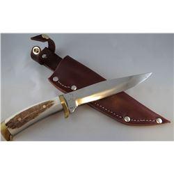 """Jody Martin knife, bone handle 6"""" blade"""