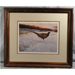 Marc R. Hanson, Rooster in the snow, 1384/1500, signed, 15w x 11h