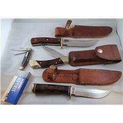 4 knives, 3 Schrade, 1 Old Timer