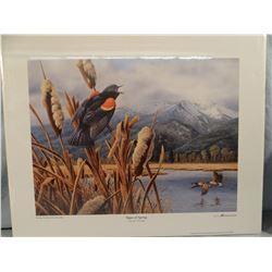 Joseph Thornbrugh, Signs of Spring, DU artist of the year 2001, 20w x 16h