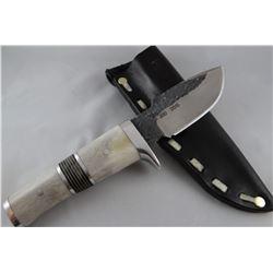"Montana Hammer knife, bone handle, 4"" blade, 2015"