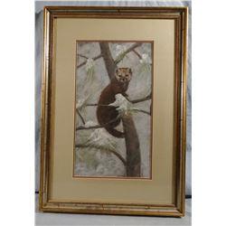 Buell, Pine Marten, Pastel original, Gilford, MT, 9.5w x 16h