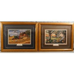 2 prints by Charles Frietag, Oliver Twist and Autumn Memories