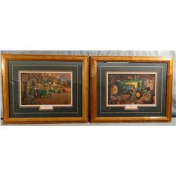2 prints by Charles Frietag, Bumper Crop and Restoration II
