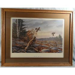 David A. Maass, Timber's Edge-Ruffed Grouse, 887/950, singed, 26w x 19h
