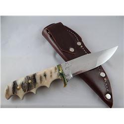 "Jody Martin knife, stone handle, 4 1/2"" blade"