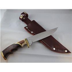"Jody Martin knife, stone handle, 6"" blade"