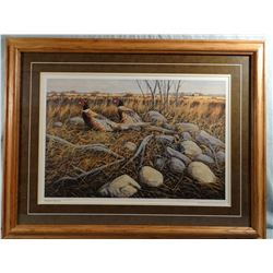 Robert Billings, Rockpile Roosters, 325/850, signed, 2002 PF Canada Print of the Year, 23w x 16h