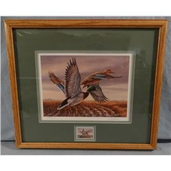 Rosemary Millette, 1989 Waterfowl Restoration Stamp Print, 7954/8000 DU signed, 9W X 6.5H
