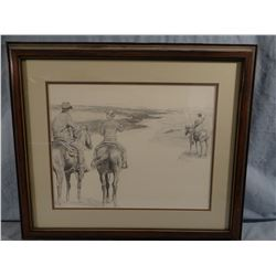 Don Greytak, Ranch Life 62, 112/300, signed, 14w x 11h