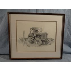Don Greytak, pencil sketch-McCormick Tractor, 223/500, signed, 14w x 11h