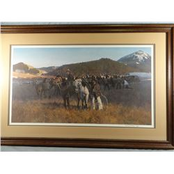 Gary Carter, Bears Paw Rope Corral, 461/850, signed, 32w x 18h