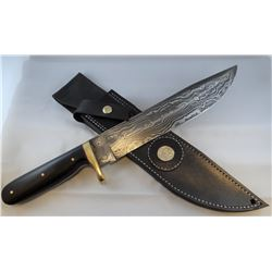 "Jim Brewer knife, wood handle, 9 1/2"" blade"