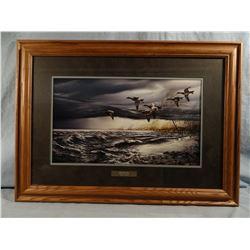 Terry Redlin, Whitewater, framed print, 18W X 11H
