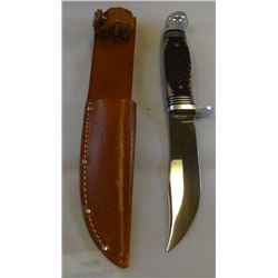 "Western hunting knife, 4 1/2"", sheath"