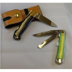 "2 knives: Kershaw 1993 3"" folding knife and Case G254 folding knife w/2 blades"