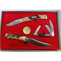 3 knife set, 2 Schrade and 1 Uncle Henry, Pheasant Forever