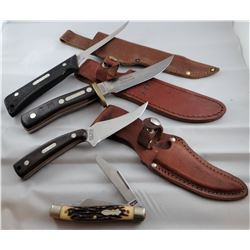 4 knives: 2 Old Timer, 1 Uncle Henry, 1 Schrade