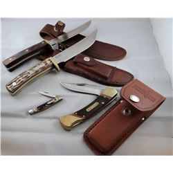 4 knives: 2 Uncle Henry, 1 Old Timer, 1 Schrade